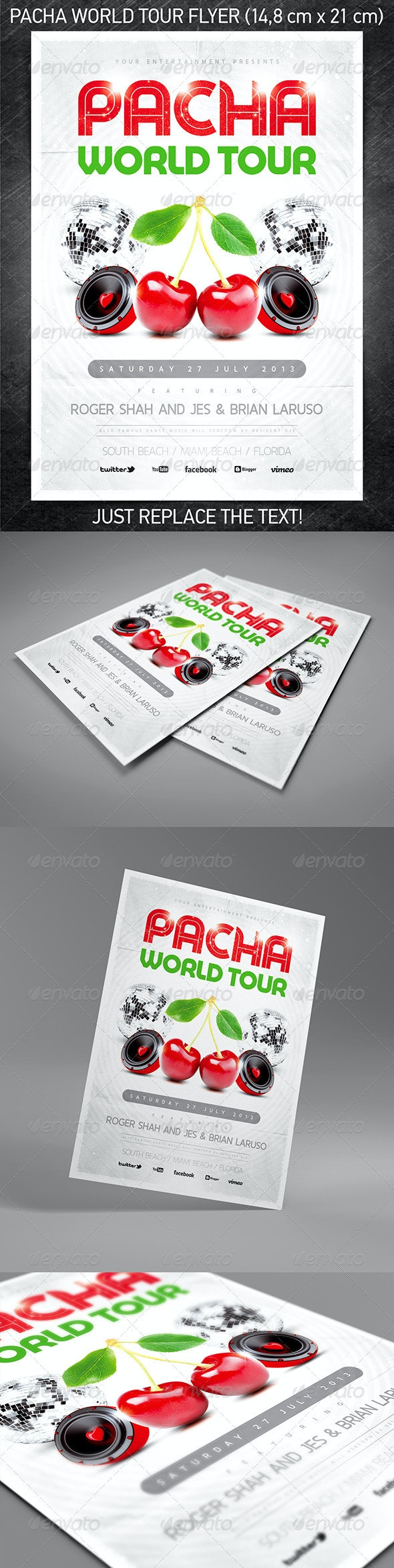 Pacha World Tour Party Flyer - Clubs & Parties Events