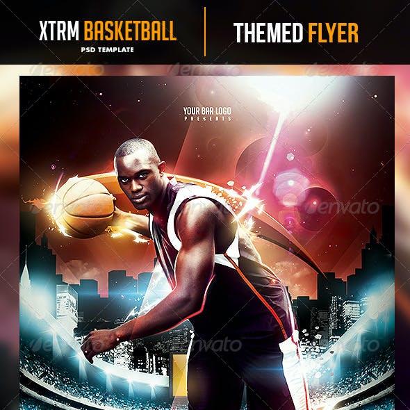 XTRM Basketball Night Flyer Template