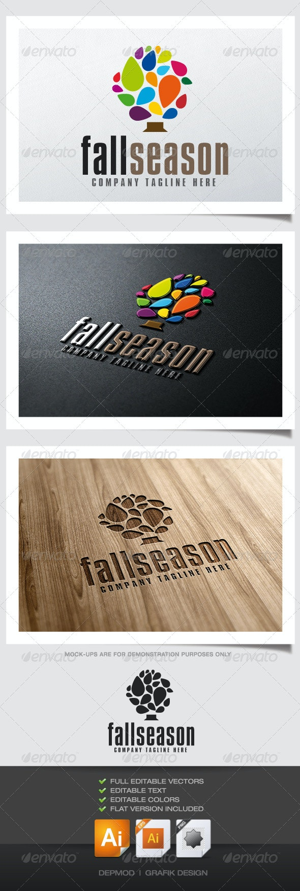 Fall Season Logo - Nature Logo Templates