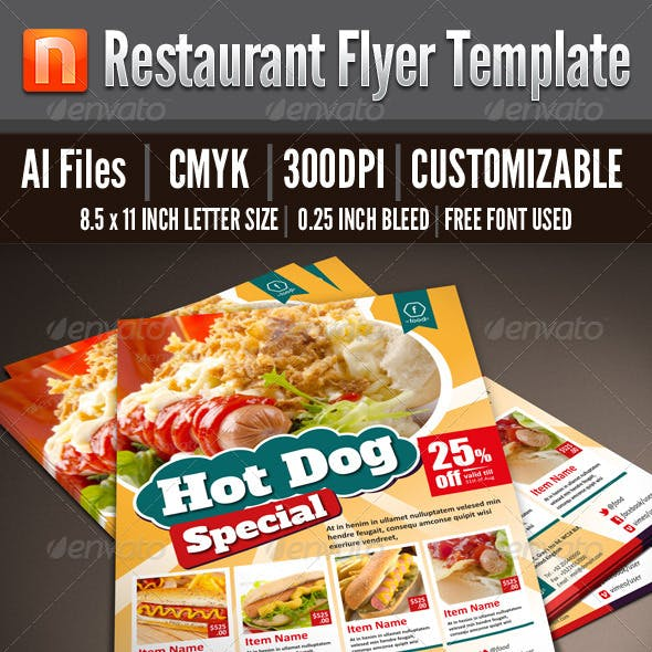 Restaurant Flyer Template - V2