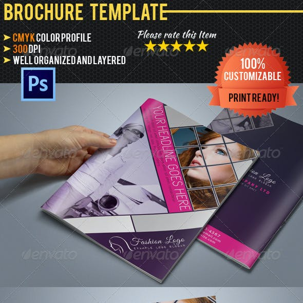 Bi-Fold A5 Fashion Business Brochure
