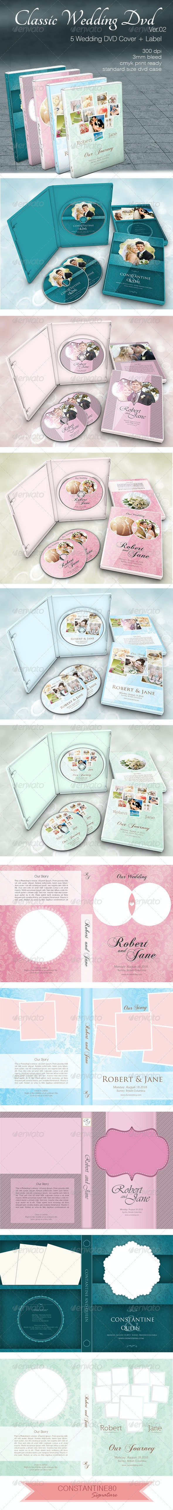Classic Wedding Dvd ver02 - CD & DVD Artwork Print Templates