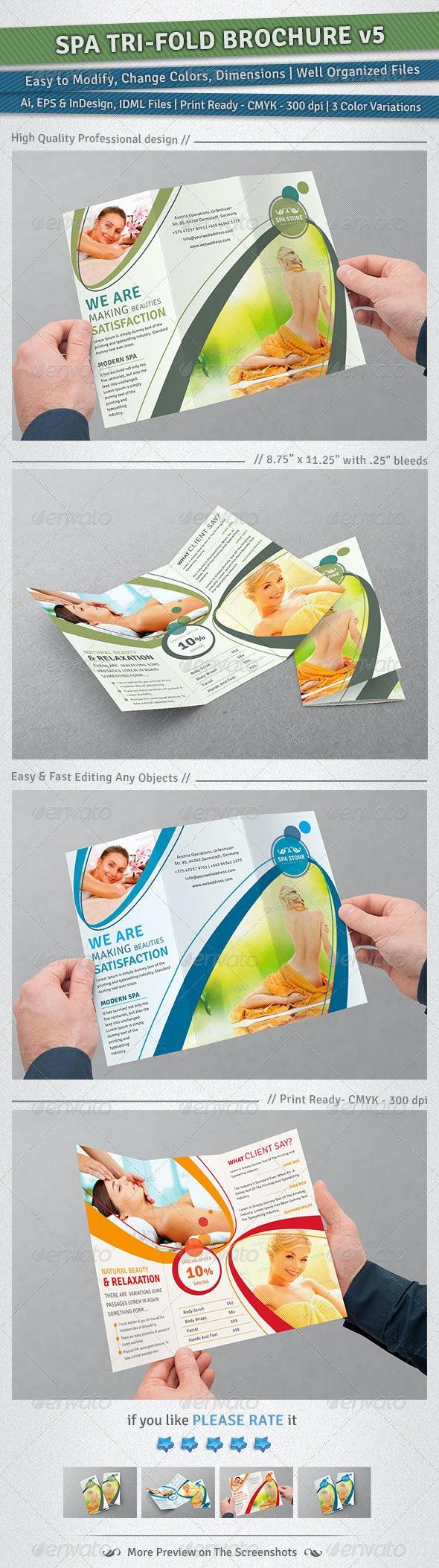 Spa Tri-Fold Brochure | Volume 5 - Corporate Brochures