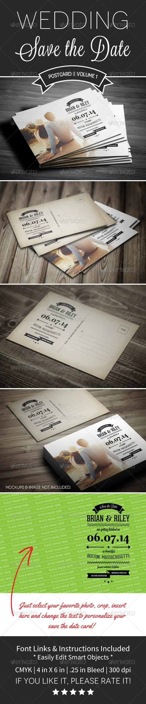 Save The Date Postcard | Volume 1 - Weddings Cards & Invites