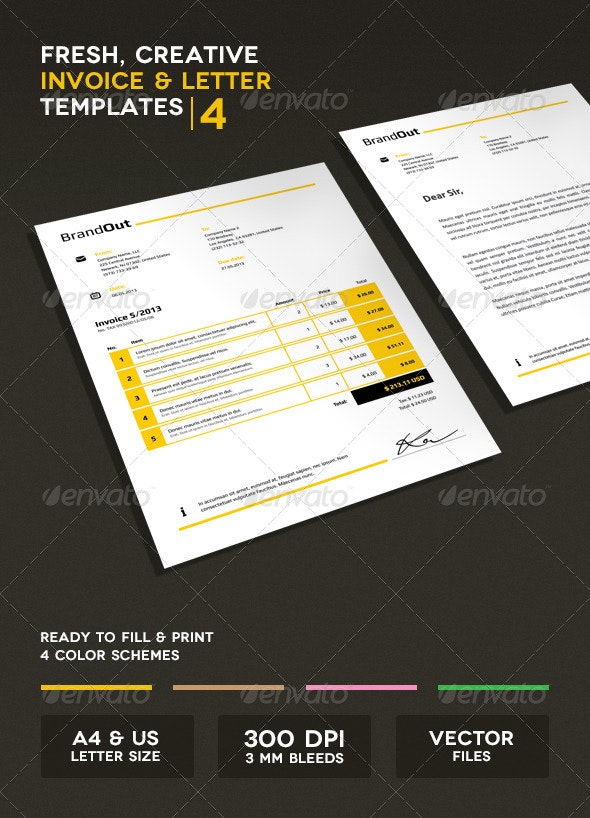 Invoice & Letter Templates IV - Proposals & Invoices Stationery