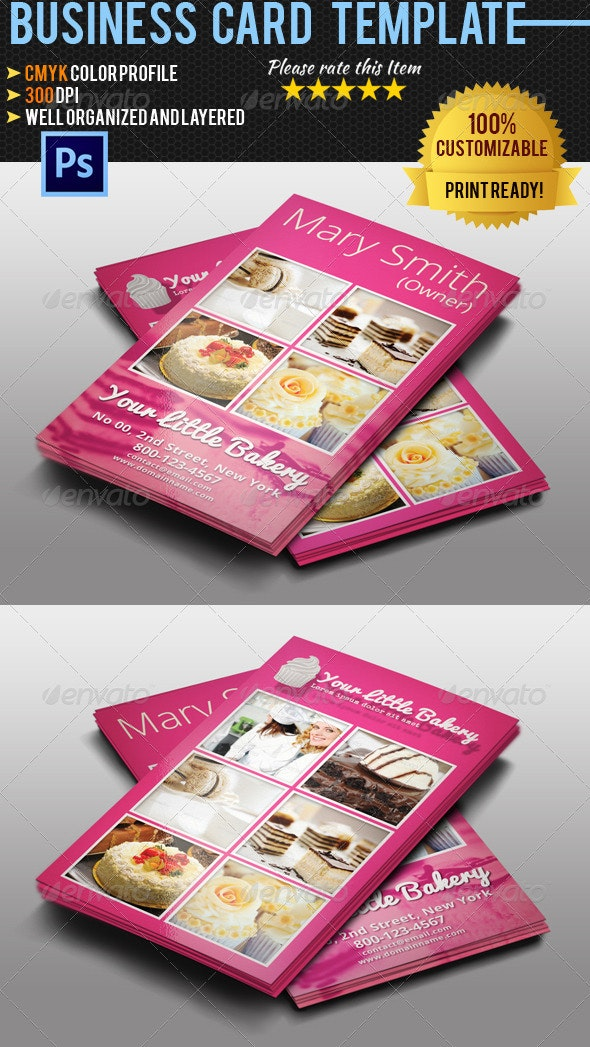 Catering Service Business Card - Industry Specific Business Cards