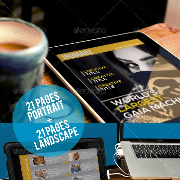 Ingmagz Tablet Magazine Template