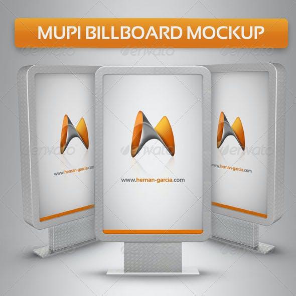 Mupi Billboard Mock-up