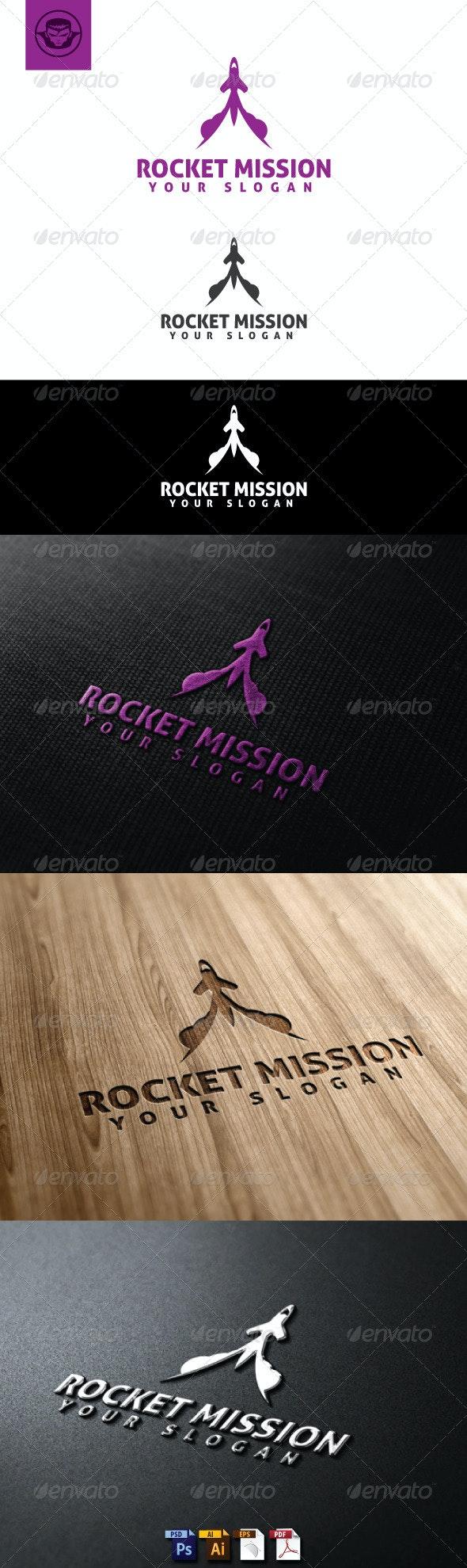 Rocket Mission Logo Template