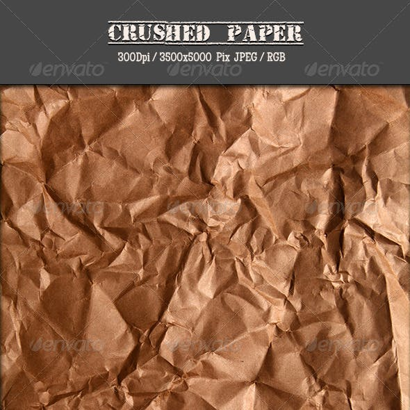 Crushed Brown Paper IV