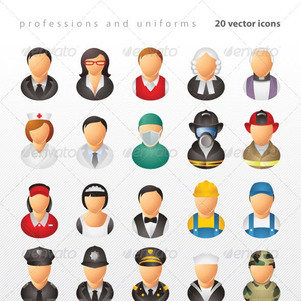 Professions and Uniforms Icons