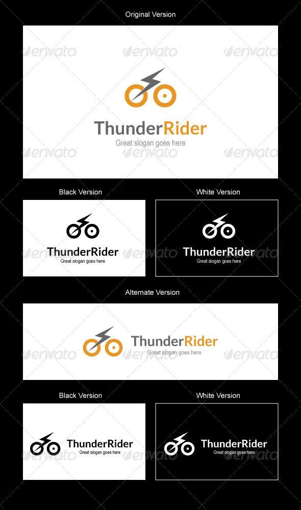Thunder Rider Logo Design - Symbols Logo Templates