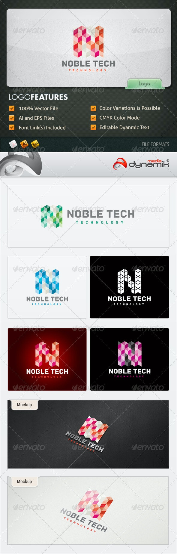 Noble Tech - Logo Template
