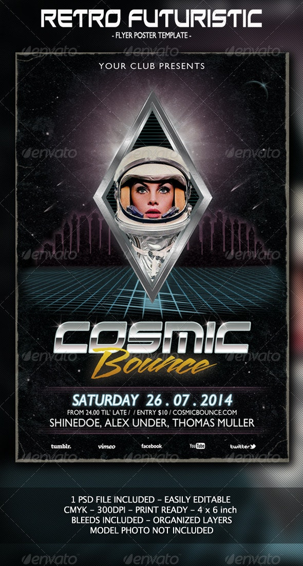 Futuristic Flyer/Poster - Events Flyers
