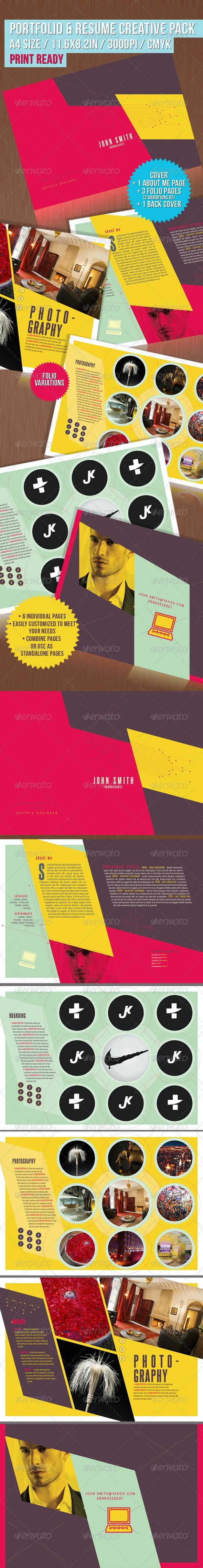 Portfolio & Resume Creative Pack - Portfolio Brochures