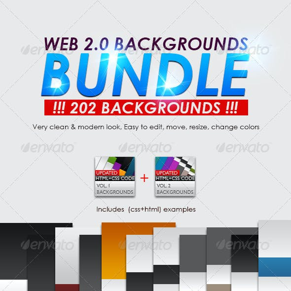Web 2.0 Backgrounds Bundle