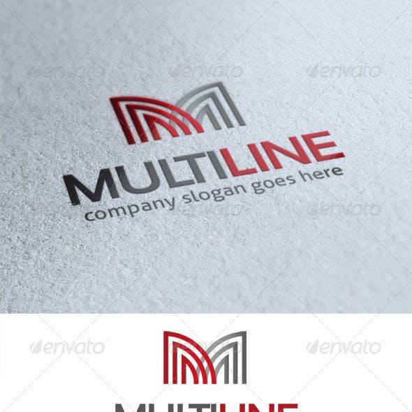 Multi Line Letter M Logo