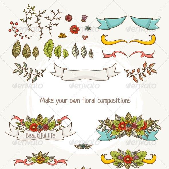Floral Compositions Elements