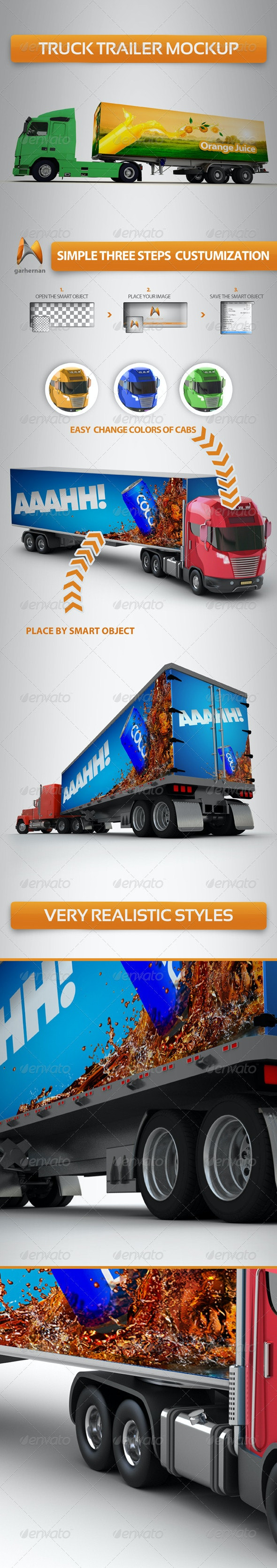Truck Trailer Mock-Up - Vehicle Wraps Print