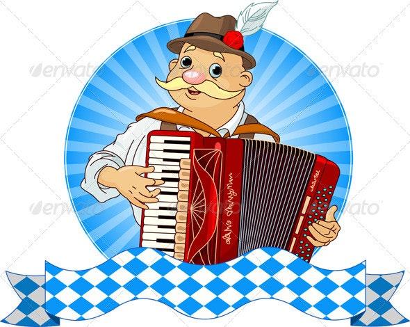 Oktoberfest Accordion Player - Seasons/Holidays Conceptual