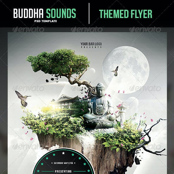 Buddha Sounds Flyer Template