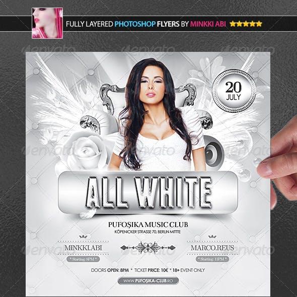 All White Poster/Flyer