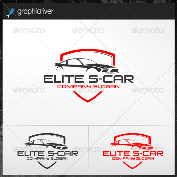 Elite S-Car Logo Templates