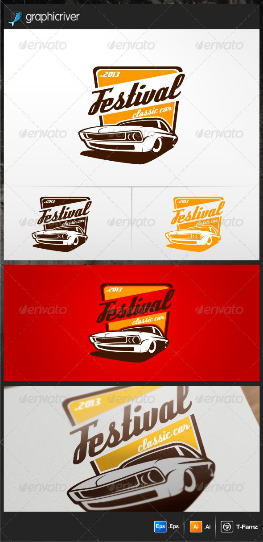 Festival Classic Car Logo Templates - Objects Logo Templates