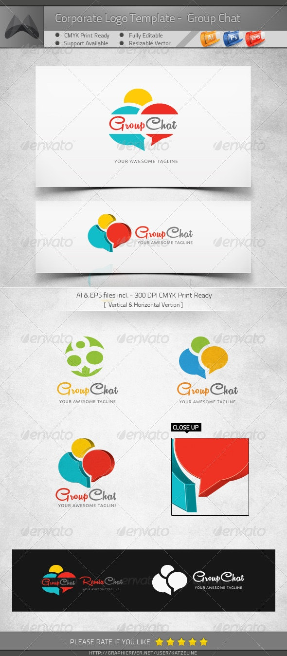 Group Chat - Logo Template - Objects Logo Templates