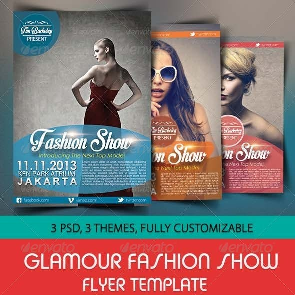 Glamour Fashion Show Flyer Template