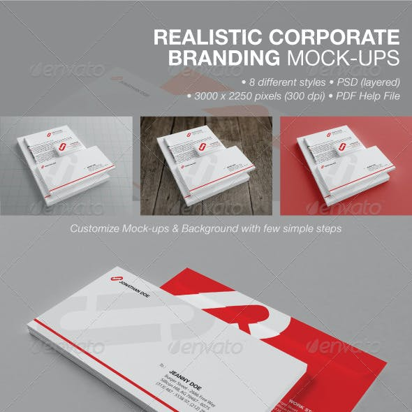Realistic Corporate Branding Mock-ups