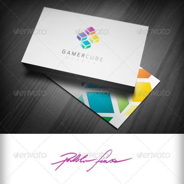 Game Store Logo - Gaming Logo - Game Cube Logo