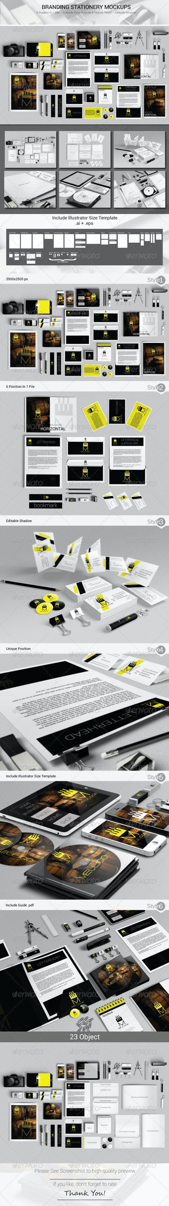 Branding Stationery Mockups - Stationery Print