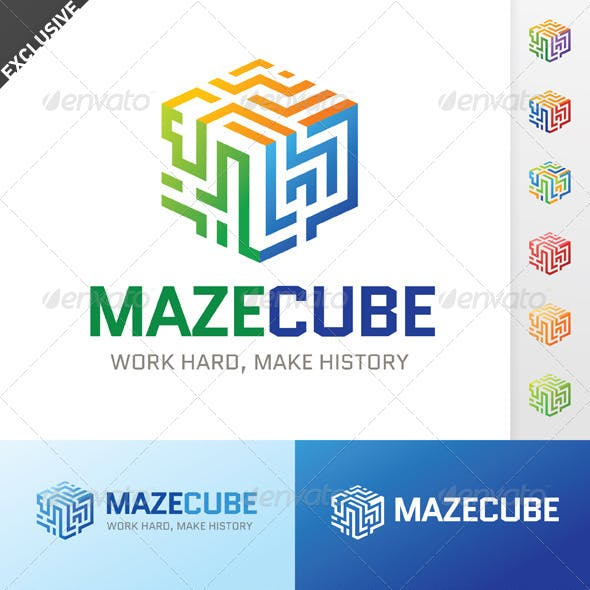 Maze Cube Logo