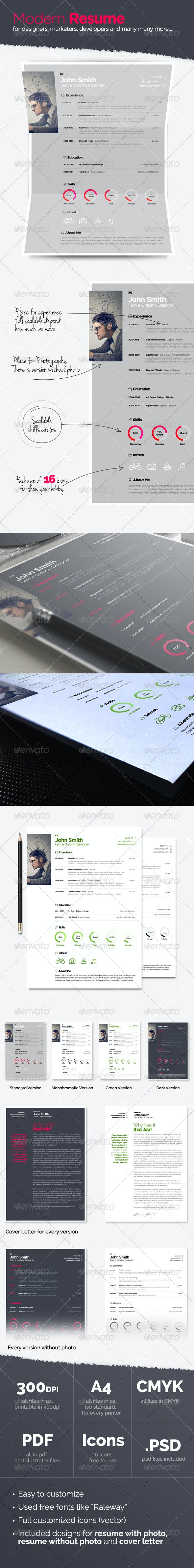 Modern Fresh Resume and Cover Letter - Resumes Stationery