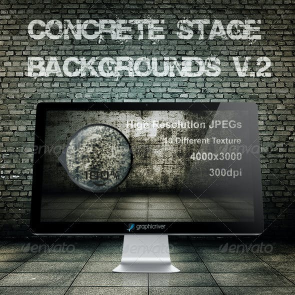 Concrete stage backgrounds V.2