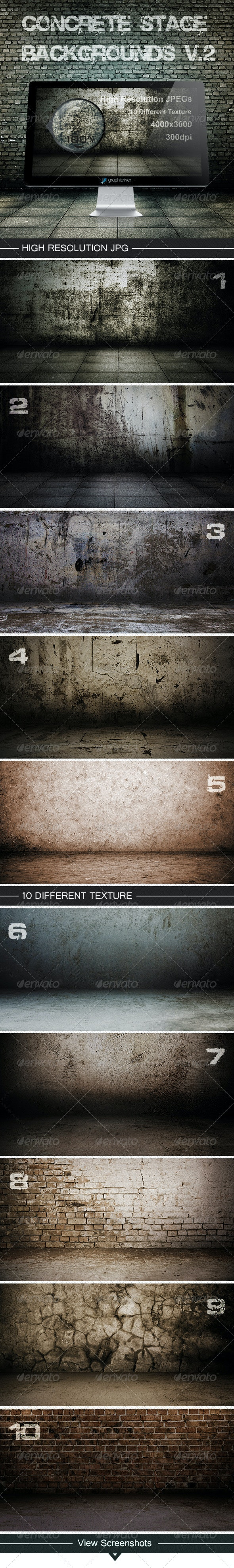 Concrete stage backgrounds V.2 - Backgrounds Graphics