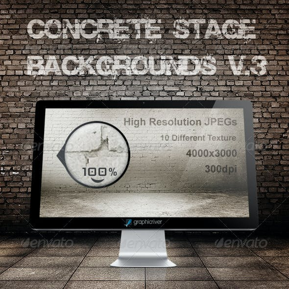 Concrete stage backgrounds V.3
