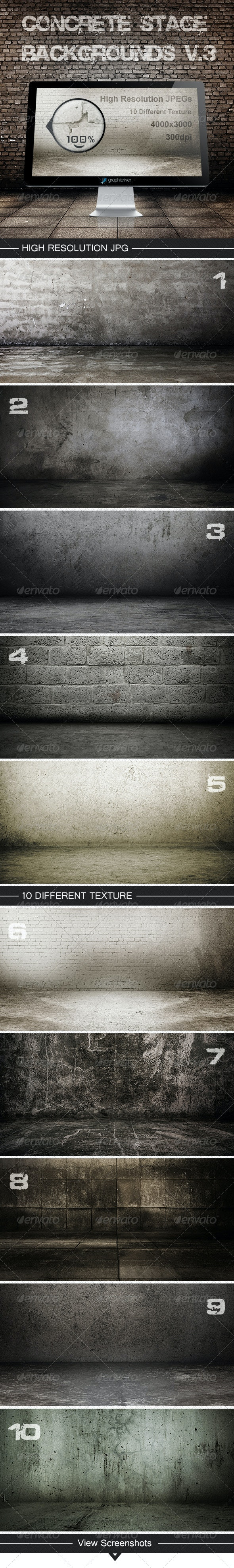 Concrete stage backgrounds V.3 - Backgrounds Graphics