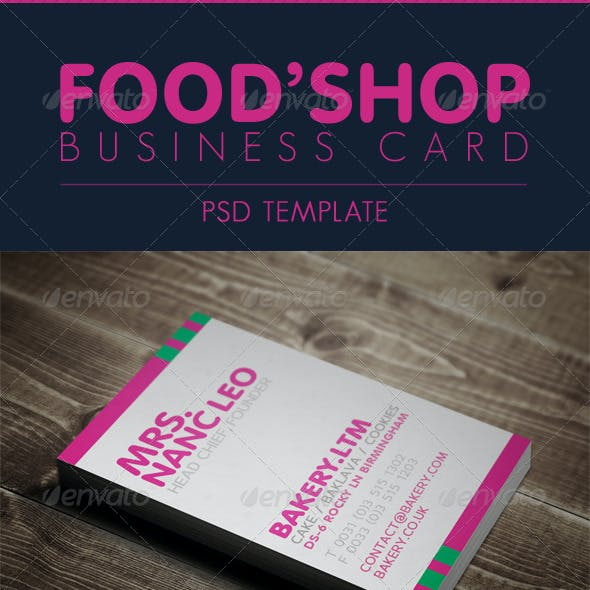 Business Card - For Food Shop