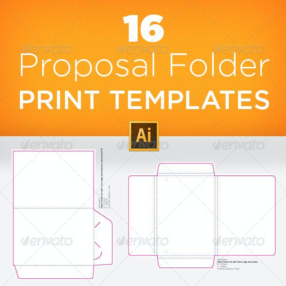 16 Proposal Folder Print Templates