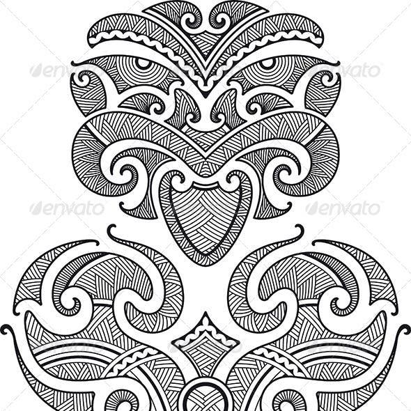 Tiki Tattoo Design