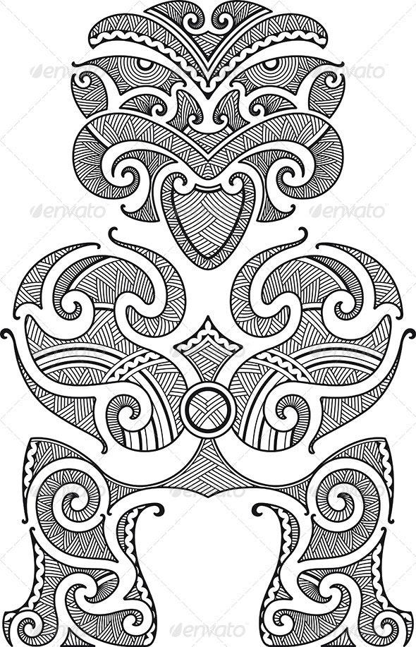 Tiki Tattoo Design - Tattoos Vectors