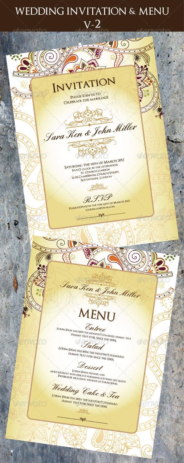 Wedding Invitation & Menu Cards V-2 - Invitations Cards & Invites