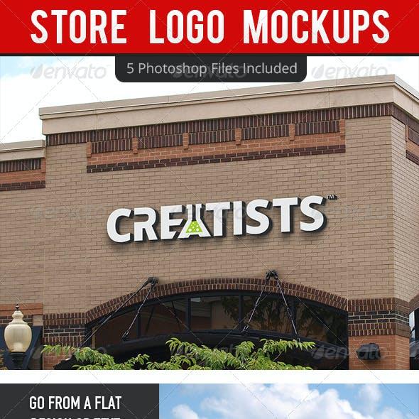 Store Logo Mockups