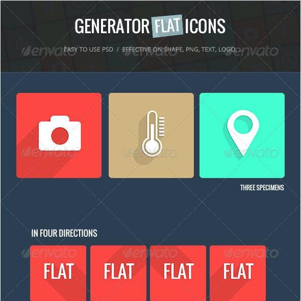 Generator Flat Icons