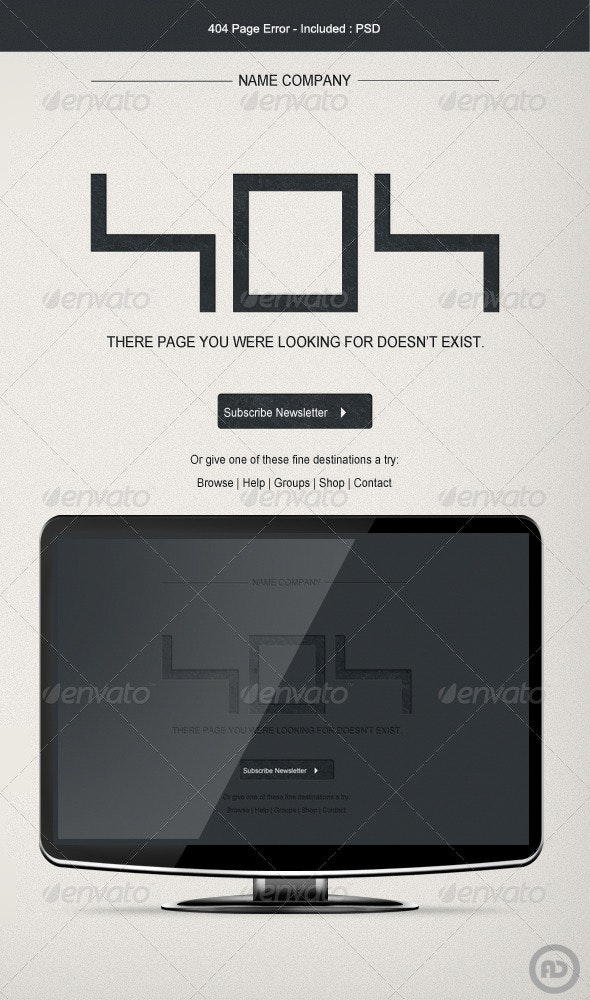 404 Page Error - 404 Pages Web Elements