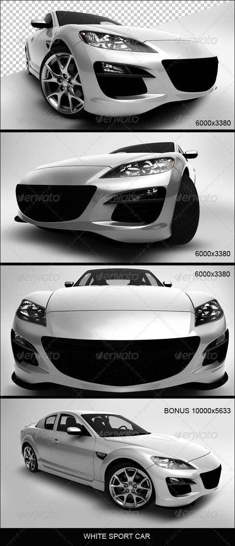 White Sport Car - 3D Renders Graphics