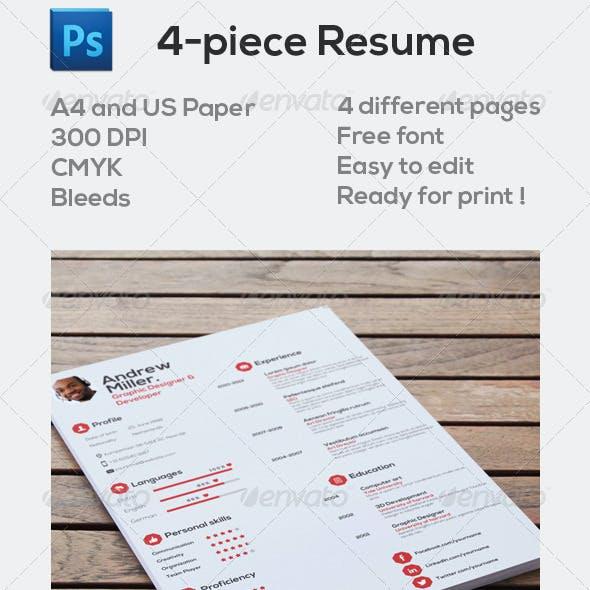 4-Piece Resume
