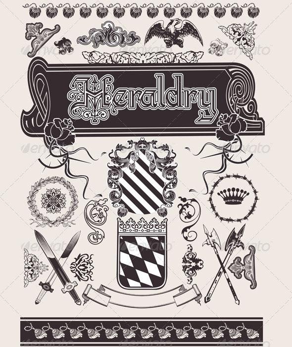 Vector Set Heraldry. - Retro Technology